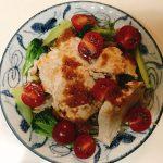 サラダチキンとミニトマトのサラダプレート